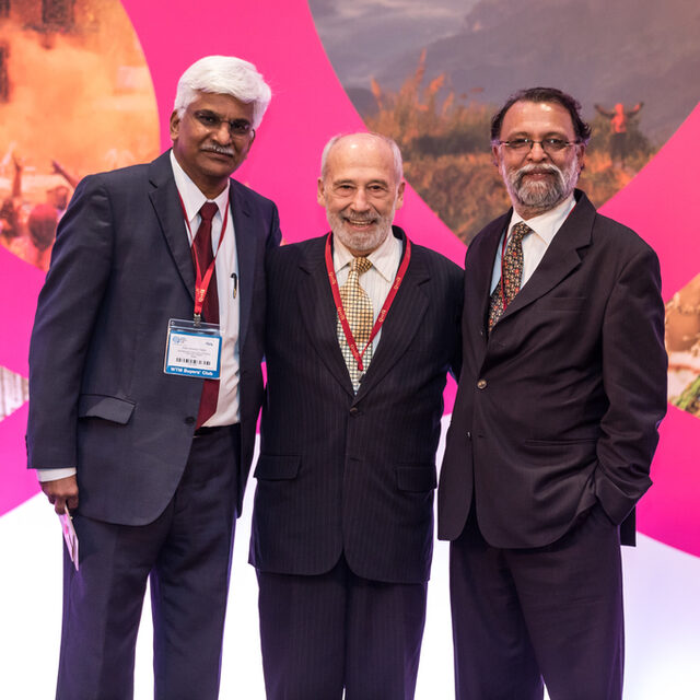 IIPT India VP Kiran Yadav and President Ajay Prakash with Lou D'Amore, Founder-President IIPT